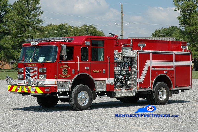 <center> Fort Campbell  Engine 20  <br> x-Engine 5 <br> 2014 Pierce Saber 4x4 1500/750/50 <br> Greg Stapleton photo </center>