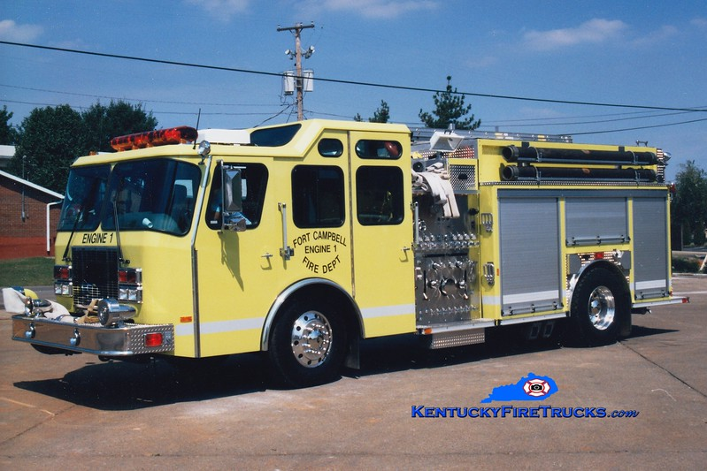 REASSIGNED <br /> Fort Campbell Engine 1<br /> 1997 E-One Cyclone II 1250/750 <br />  Greg Stapleton photo