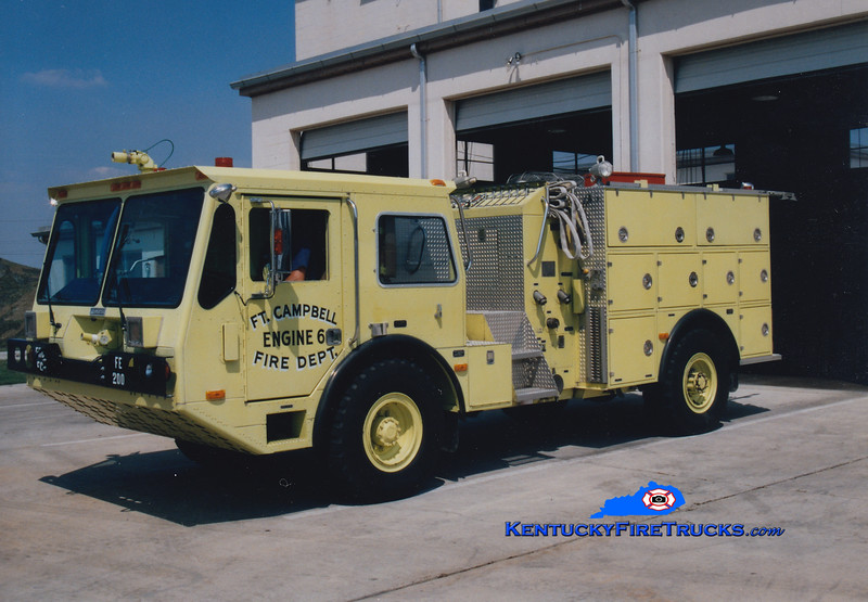 <center> RETIRED <br> Fort Campbell  Engine 6  <br> 1988 Amertek 1000/660/72 <br> Greg Stapleton photo </center>