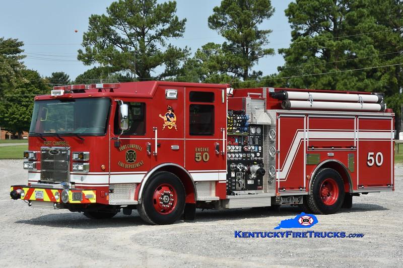 Fort Campbell Engine 50<br /> 2021 Pierce Saber 1500/750/25<br /> Greg Stapleton photo