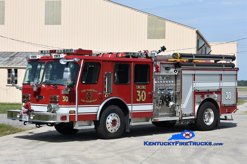 Fort Campbell Engine 30<br /> x-Engines 2 and 6 <br /> 2001/2016 E-One Hurricane 1000/500/40<br /> Greg Stapleton photo