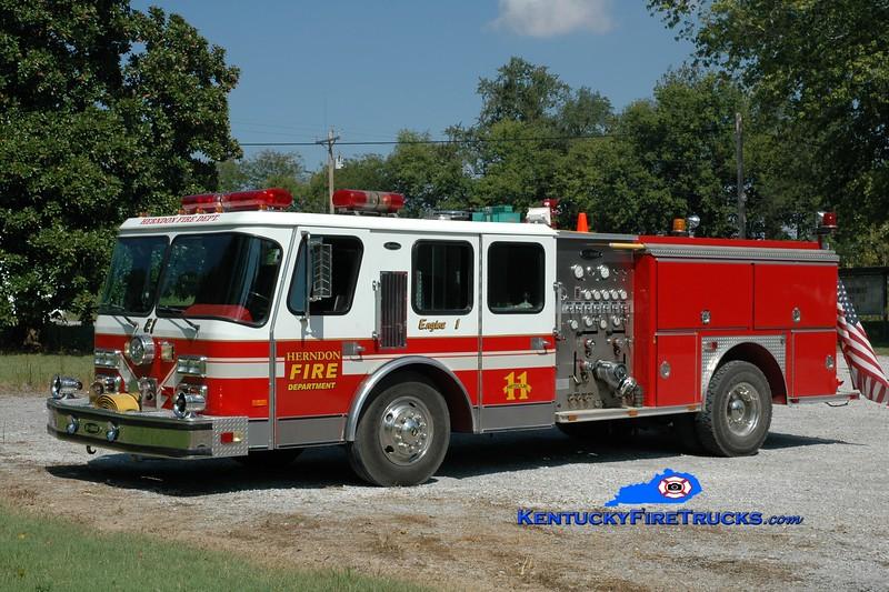 <center> RETIRED <br> Herndon  Engine 1450  <br> x-Oxon Hill, MD <br> 1989 E-One Hurricane 1250/500 <br> Greg Stapleton photo </center>