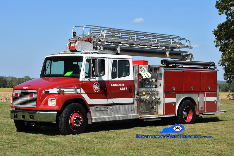 Highland  Ladder 1251<br /> x-Hopkinsville, KY<br /> 1996 Freightliner FL80/E-One 1250/500/50' TeleBoom <br /> Greg Stapleton photo