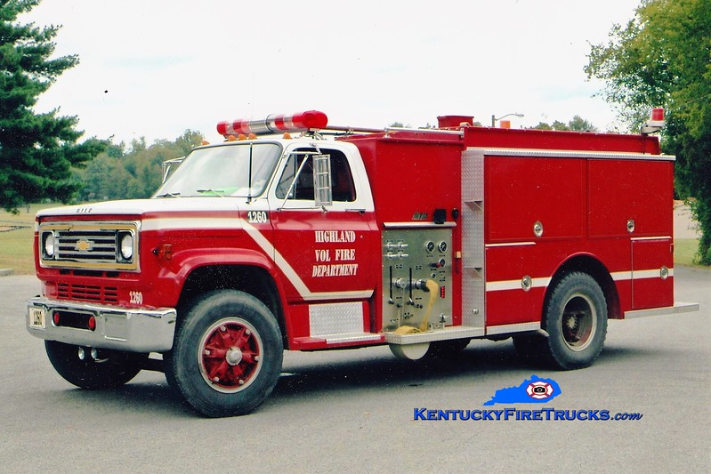 RETIRED <br /> Highland  Tanker 1260<br /> 1977 Chevy/Atlas 250/1500<br /> Greg Stapleton photo