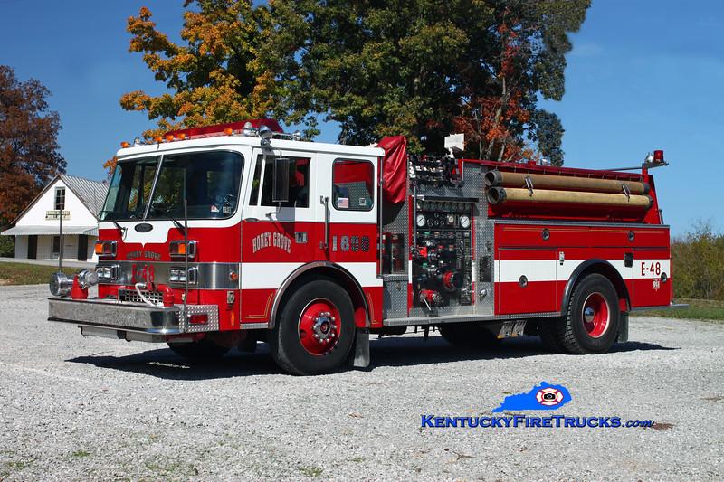 <center> Honey Grove  Engine 1650  <br> x-Fearnots FC; Freeland, PA <br> 1989 Pierce Dash D-8000 1250/1000 <br> Kent Parrish photo </center>