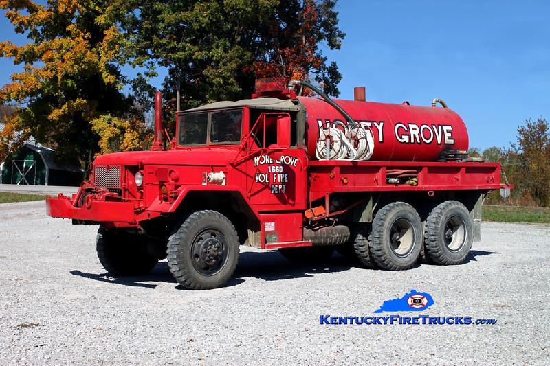 <center> Honey Grove  Tanker 1660  <br> 1972 AM General M35 6x6/HGFD 250/1200 <br> Kent Parrish photo </center>