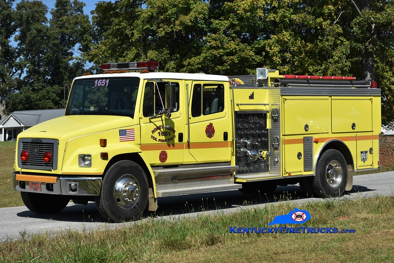 Honey Grove  Engine 1651<br /> x-North Garden, VA <br /> 1996 Freightliner FL80/Smeal 1000/1000<br /> Greg Stapleton photo