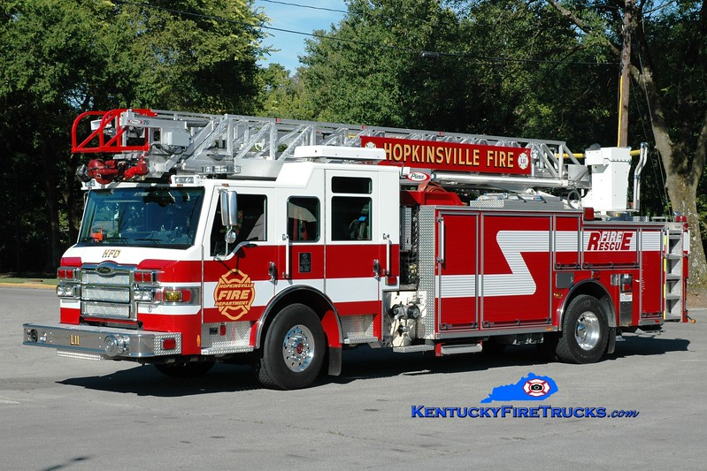 <center> Hopkinsville  Ladder 11 <br> 2012 Pierce Impel PUC 1500/500/75'  <br> Greg Stapleton photo </center>