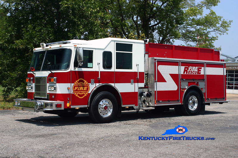 <center> Hopkinsville  Engine 21 <br> 2010 Pierce Contender PUC 1500/750/30 <br> Kent Parrish photo </center>