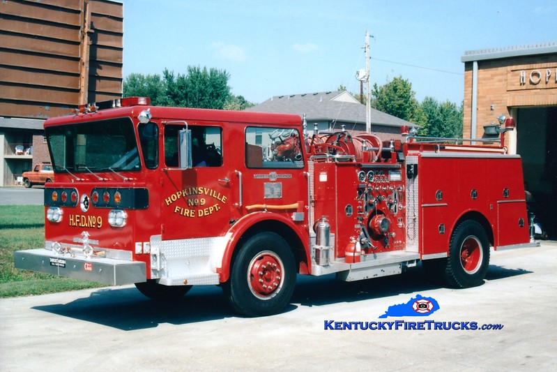 <center> RETIRED <br> Hopkinsville  Engine 109 <br> 1975 American LaFrance Pioneer III 1250/500 <br> Greg Stapleton photo </center>