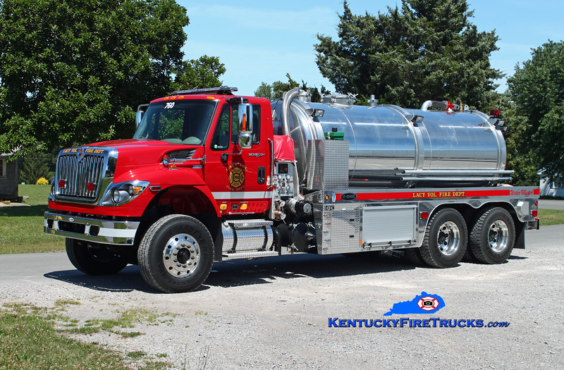 <center> Lacy  Tanker 760  <br> 2013 International 7400/E-One Water Master 750/2500/20 <br> Kent Parrish photo </center>