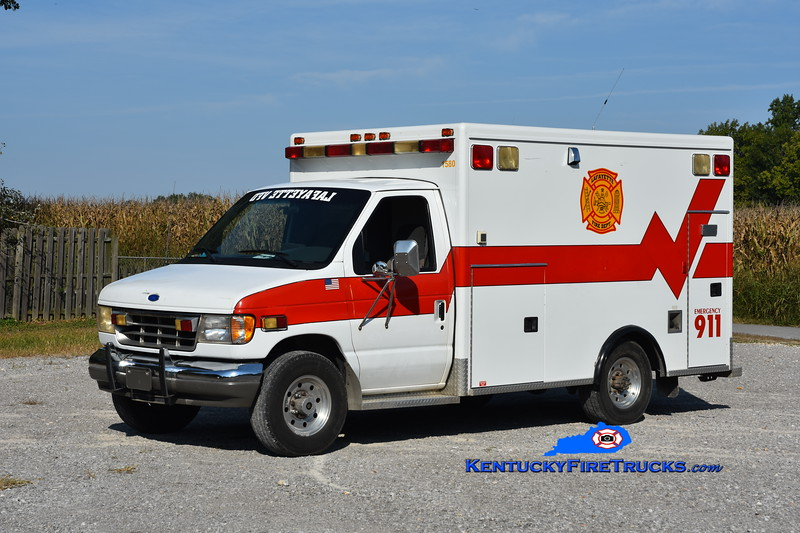 Lafayette  Rescue 1580<br /> x-Hopkinsville, KY <br /> 1995 Ford E-350/Wheeled Coach<br /> Greg Stapleton photo