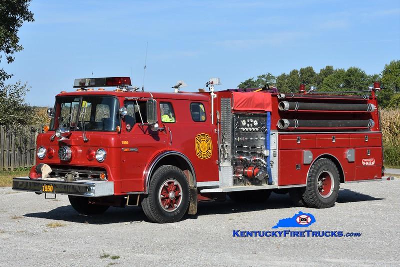 Lafayette  Engine 1550<br /> X-Gorham Fayette, OH <br /> 1984 Ford C-8000/Sutphen 1250/1000<br /> Greg Stapleton photo
