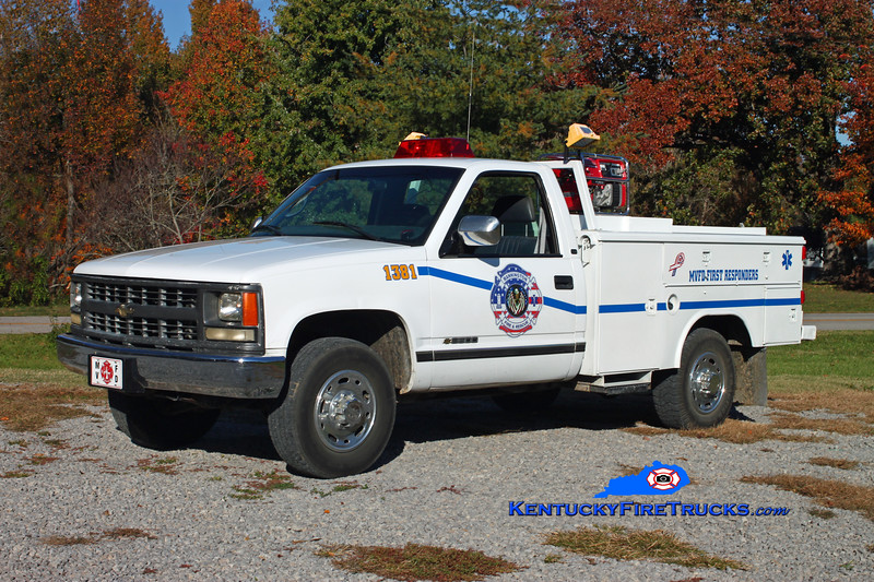 <center> Mannington  Rescue 1381  <br> 1997 Chevy 3500 4x4/Knapheide  <br> Kent Parrish photo </center>