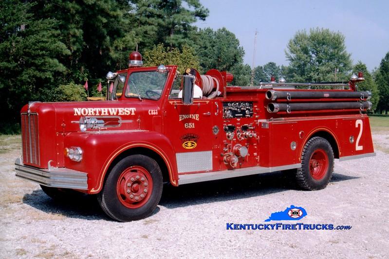 <center> Northwest  Engine 651  <br> x-Morrisville, PA <br> 1967 Maxim S 1000/750 <br> Greg Stapleton photo </center>