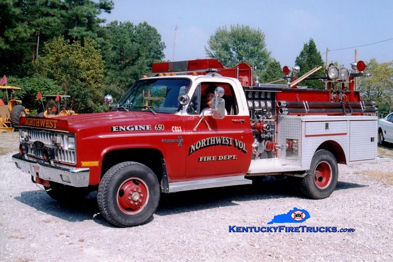 <center> RETIRED <br> Northwest  Engine 650  <br> x-North Reading, MA <br> 1980 Chevy C30 4x4/Pierce 400/300 <br> Greg Stapleton photo </center>