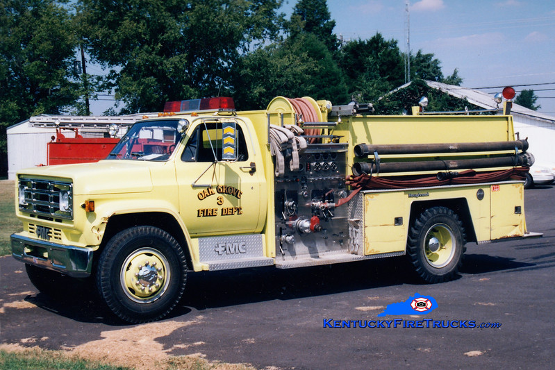 <center> Oak Grove Engine 253 <br> 1986 GMC/FMC 1000/750  <br> Greg Stapleton photo </center>