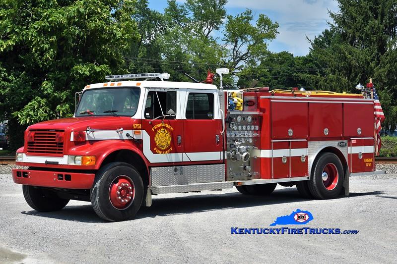Pembroke  Engine 1751<br /> x-Oak Grove, KY<br /> 1993 International 4900/E-One 1250/1000<br /> Greg Stapleton photo