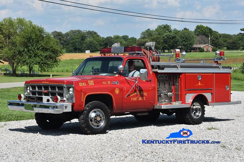 Square Deal  Engine 831<br /> x-Washington County, KY<br /> 1979 GMC K35 4x4/E-One 250/250<br /> Greg Stapleton photo