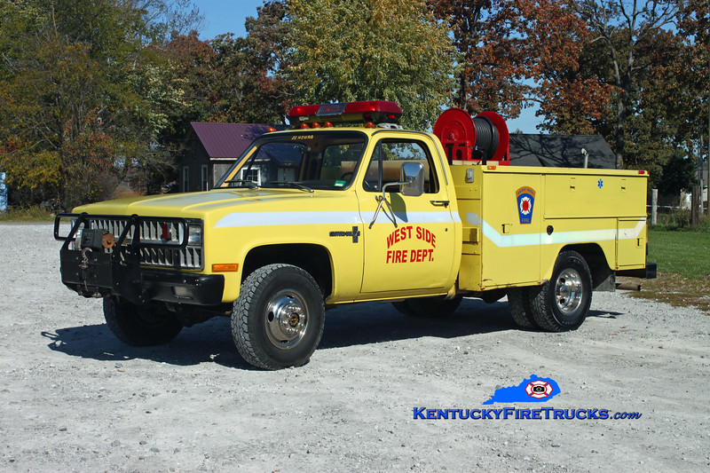 <center> West Side  Brush 1170  <br> x-Alvaton, KY <br> 1991 Chevy C30 4x4/Stewarts 250/250 <br> Kent Parrish photo </center>
