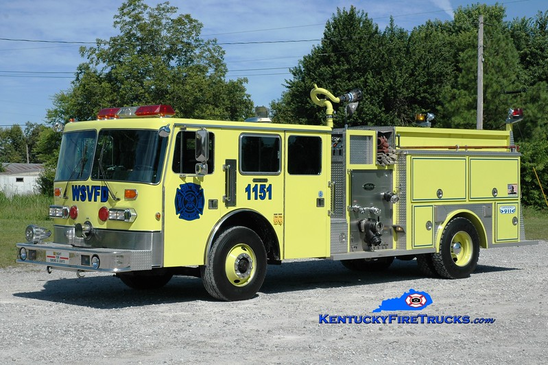 <center> West Side  Engine 1151  <br> x-Bellbrook, OH <br> 1989 Duplex D-350/Allegheny 1500/1000 <br> Greg Stapleton photo </center>