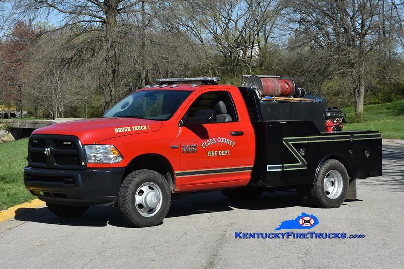 Clark County Brush Truck 1<br /> 2018 Ram 3500 4x4/Norstar 250/250<br /> Greg Stapleton photo