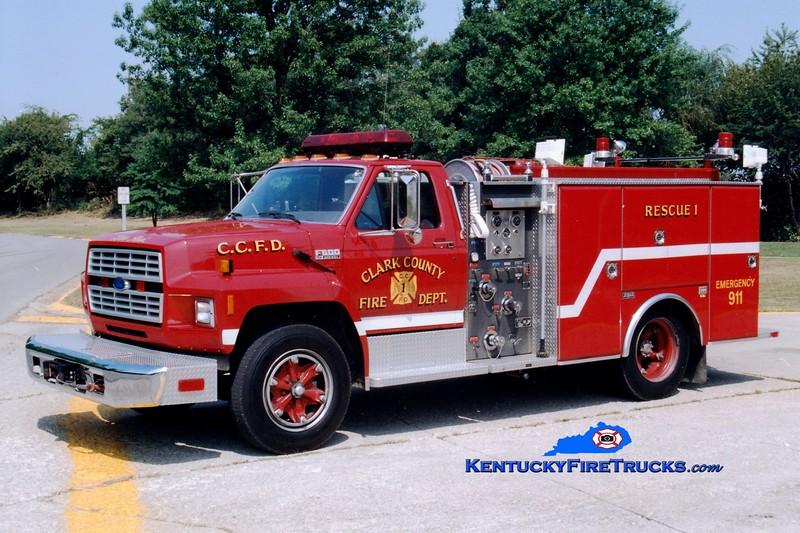<center> RETIRED <br> Clark County  Rescue 1  <br> 1994 Ford F-600/M&W 350/400 <br> Greg Stapleton photo </center>