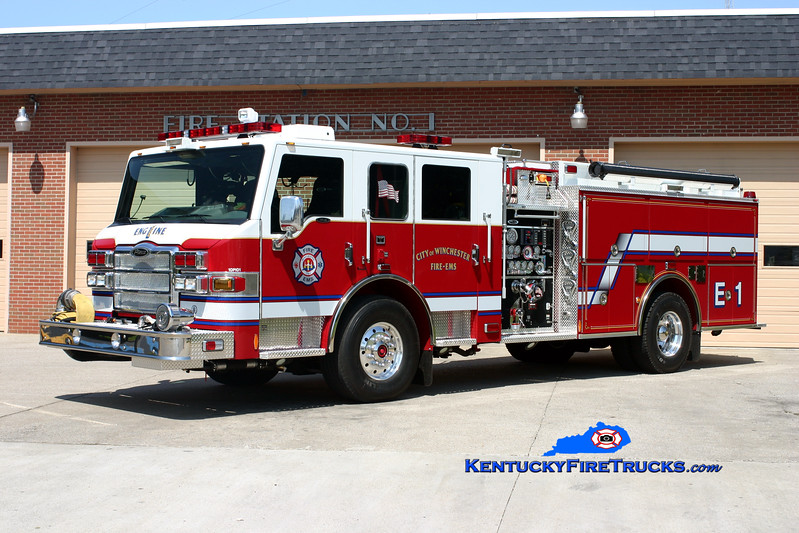 <center> Winchester  Engine 1  <br> 2010 Pierce Velocity 1500/750  <br> Kent Parrish photo </center>