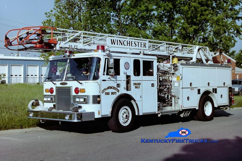 RETIRED<br /> Winchester Engine 2<br /> 1989 Pierce Lance 1500/400/55'<br /> Greg Stapleton photo