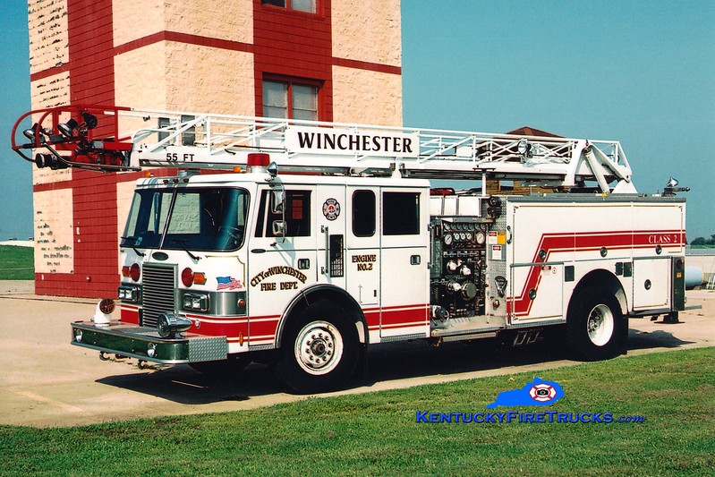 <center> RETIRED <br> Winchester  Engine 2  <br> 1989 Pierce Lance 1500/400/55'  <br> Greg Stapleton photo </center>