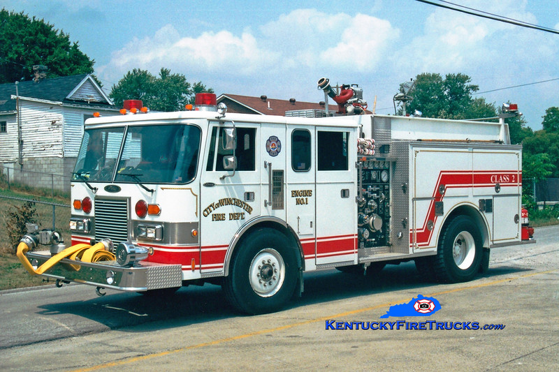 <center> RETIRED <br> Winchester  Engine 1  <br> 1989 Pierce Lance 1500/750  <br> Greg Stapleton photo </center>