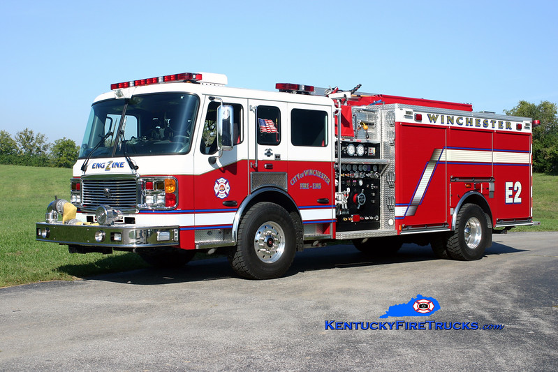 <center> RETIRED <br> Winchester  Engine 2  <br> 2008 American LaFrance Eagle 1500/750  <br> Kent Parrish photo </center>