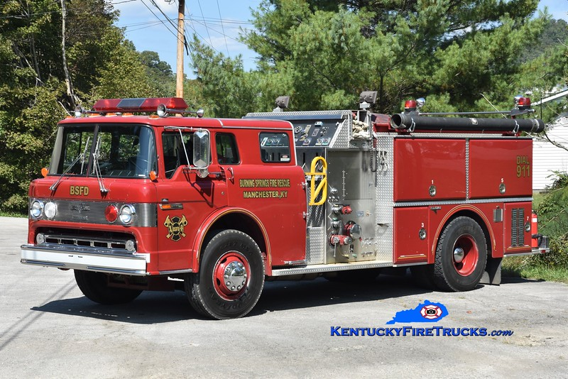 Burning Springs  Engine 1<br /> x-Troy, OH<br /> 1987 Ford C-8000/Grumman 1250/1000<br /> Greg Stapleton photo