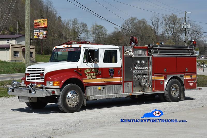 Horse Creek Engine 1<br /> 1991 International 4900/E-One 1250/1000<br /> Greg Stapleton photo