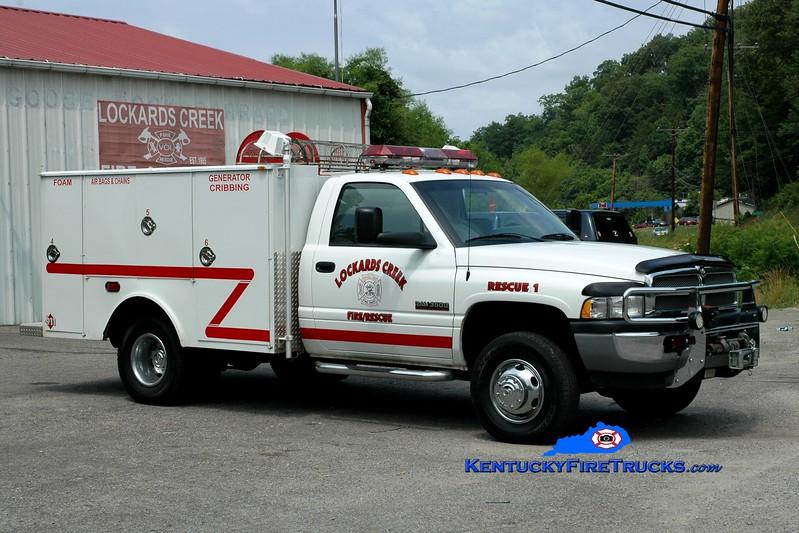 <center> RETIRED <BR> Lockards Creek  Rescue 1<br> 2001 Dodge Ram/Wynn <br> Greg Stapleton photo </center>