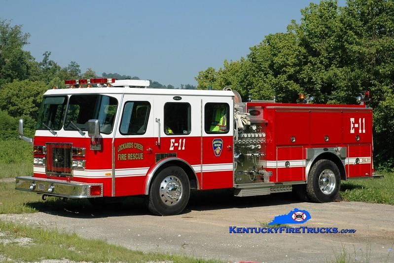 <center> RETIRED <br> Lockards Creek  Engine 11 <br> x-Paducah, KY <br> 1993 E-One Protector TC 1250/500  <br> Greg Stapleton photo </center>