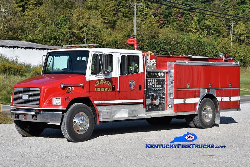 Lockards Creek  Engine 1<br /> x-Bowersville, OH<br /> 1994 Freightliner FL80/3-D 1250/1000<br /> Greg Stapleton photo