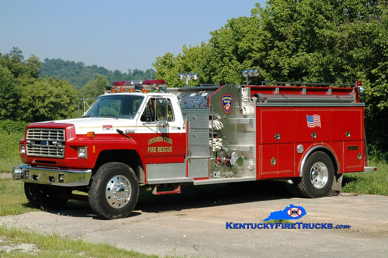 <center> Lockards Creek  Engine 2 <br> 1988 Ford F-800/4 Guys 1250/1250 <br> Greg Stapleton photo </center>