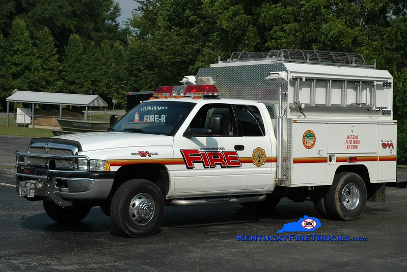 <center> Manchester  Rescue 51 <br> 2001 Dodge 4x4/Knapheide  <br> Greg Stapleton photo </center>