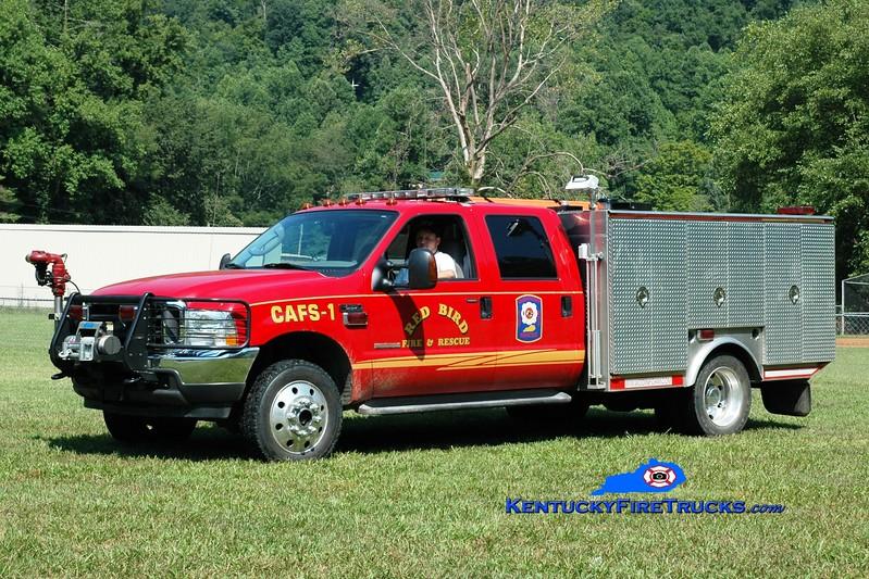 <center> Red Bird  CAFS 1 <br> 2004 Ford F-550 4x4/Protech/Darley/Odin 500/350/15/CAFS  <br> Greg Stapleton photo </center>