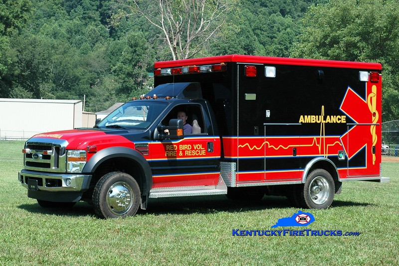<center> Red Bird  EMS 1 <br> 2009 Ford F-450/McCoy Miller  <br> Greg Stapleton photo </center>