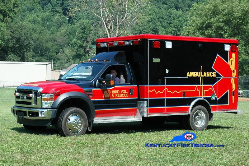 <center> Red Bird  EMS 1 <br> 2009 Ford F-450/McCoy Miller  <br> Greg Stapleton photo </center>