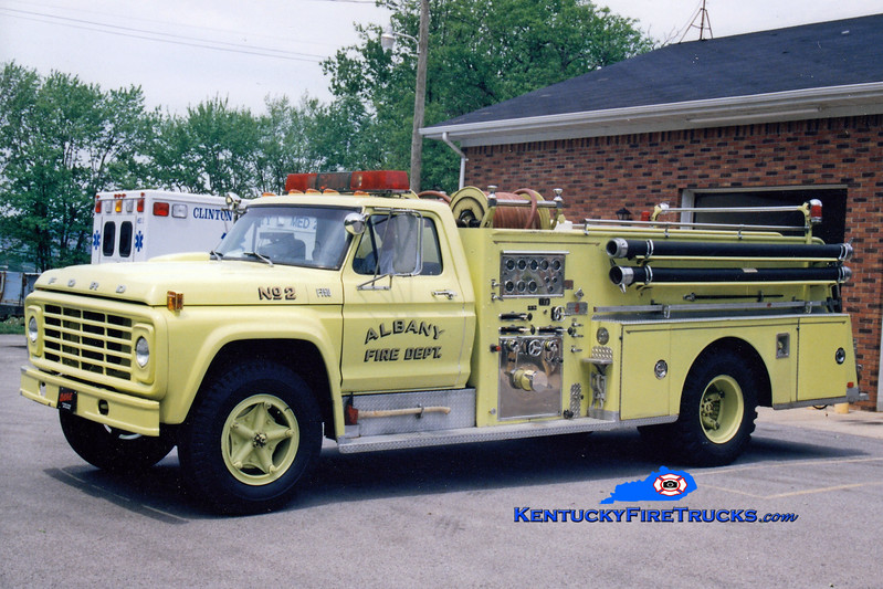 <center> RETIRED <br> Albany  Engine 2 <br> 1974 Ford/Sutphen 750/750 <br> Greg Stapleton photo </center>