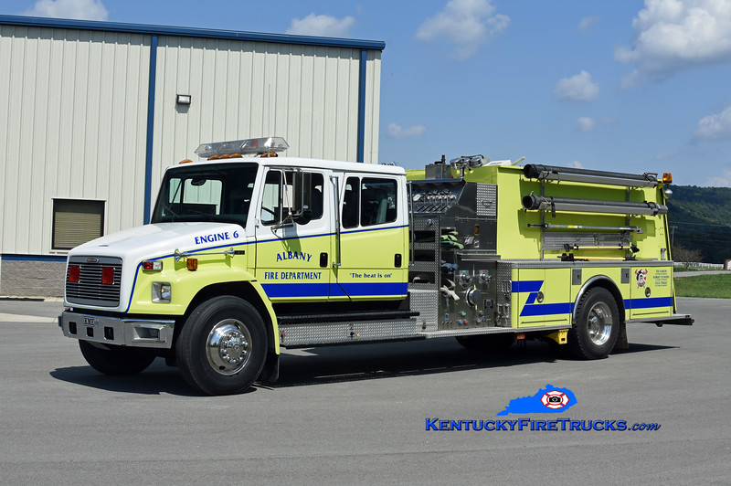 Albany Engine 6<br /> x-Marathon, NY<br /> 1996 Freightliner FL-80/KME 1250/1250<br /> Kent Parrish photo