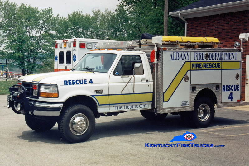 <center> Albany  Rescue 4 <br> 1996 Ford F-350/EVI  <br> Greg Stapleton photo </center>