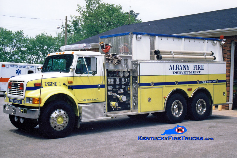<center> Albany  Engine 1 <br> 1995 International 4900/Pierce 1250/2500 <br> Greg Stapleton photo </center>