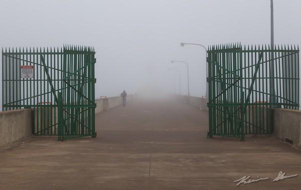 Fog shrounds the Duluth Ship Canal