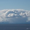 A shallow orographocally enhanced rain shower around Mount Susitna