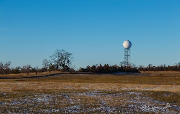 The radar in the late fall sun