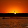 Summer radar sunset over Saylorville Lake